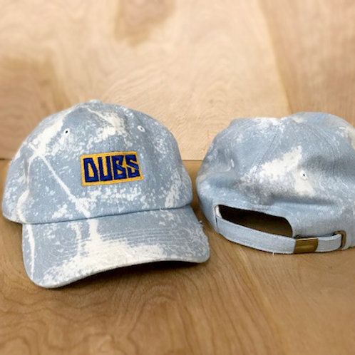 DUBS dad hat - bleached & distressed denim