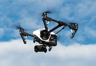 drone in the sky with a camera attached