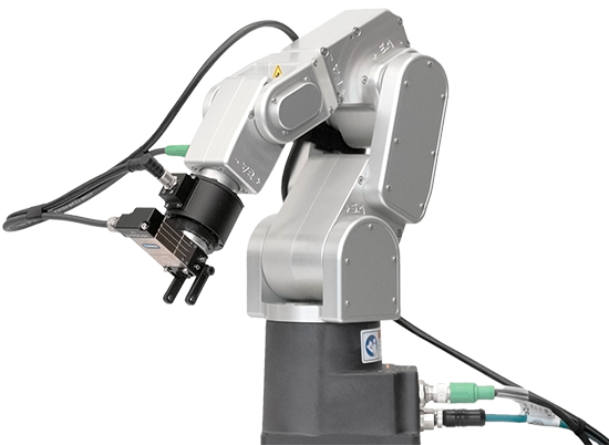 Rokubi multi axis force torque sensor on a Meca500 robot