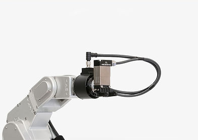 rokubi 6 axis force torque sensor is compatible with the meca500 robot and is fully integrated as shown in this image.