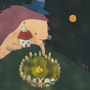 10月4日  像餅一樣的月亮