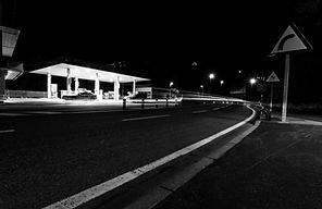 Gas Station Image at Night