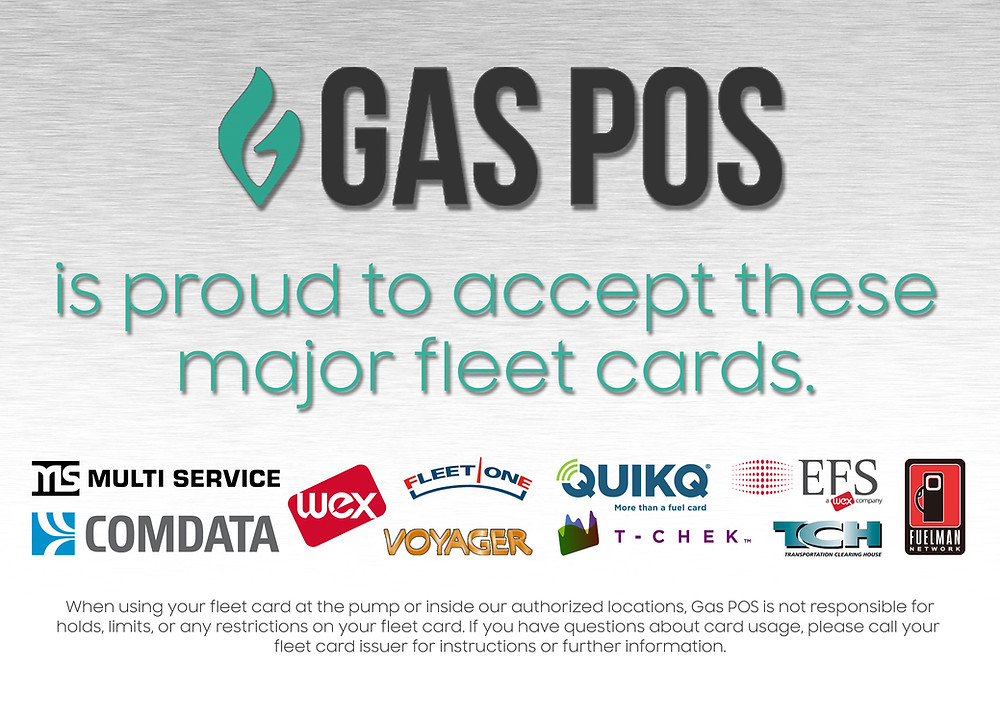 Gas Pos Accepts These Major Fleet Cards at Truck Stops