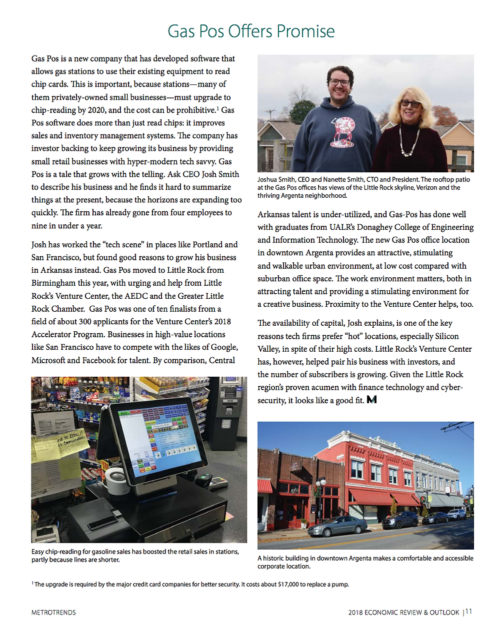 """Gas Pos Offers Promise"" in Metroplan's Metrotrends publication"