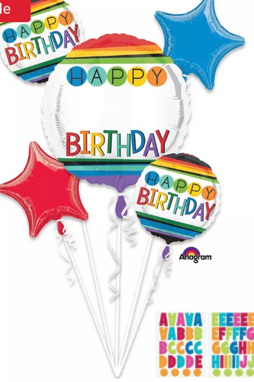 Personalize it Multicolor Balloon Bouquet 228
