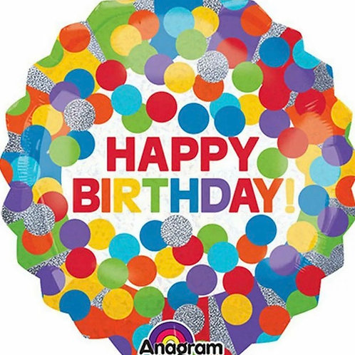 Happy Birthday Rainbow Holographic Balloon (289)