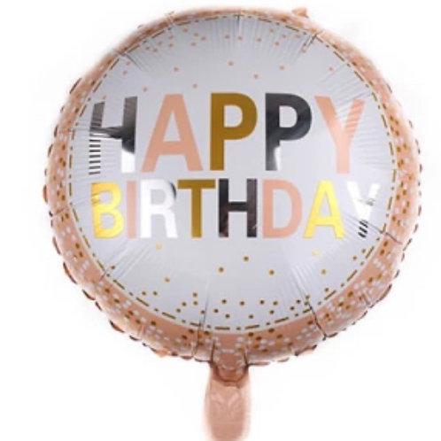 Happy Birthday Dot Pattern Mylar Balloon