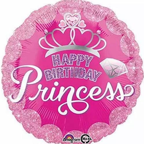 "18"" Happy Birthday Princess Crown Balloon (264)"