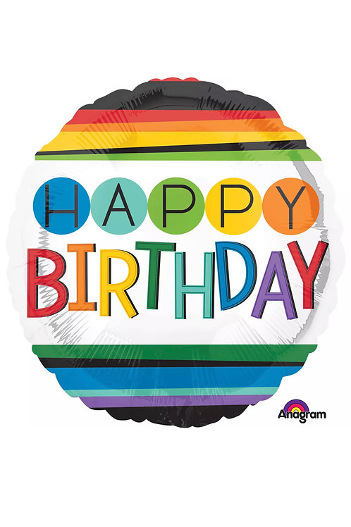 "18"" Happy Birthday Multi Colored (170)"