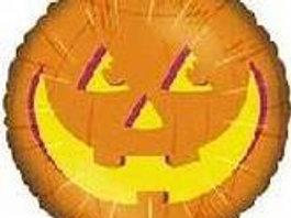 "18"" Orange Jack o Lantern Face Balloon"