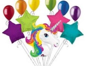 Unicorn Rainbow Balloon Bouquet