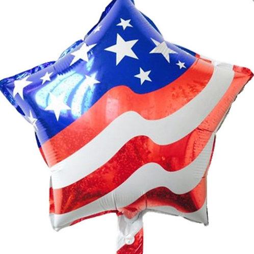 American Flag Star Balloon