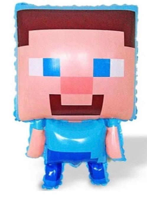 Steve Mine Craft Mylar Balloon