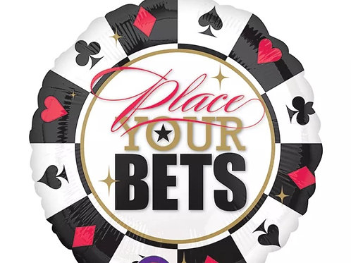 """Place Your Bets 32"""" Balloon Casino 069"""