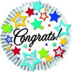 "18"" Congrats Mylar Balloon 034"