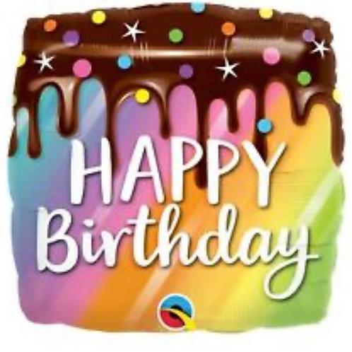 Happy Birthday Rainbow Drip Cake (316)
