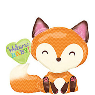 Welcome Baby Balloon Woodland Fox