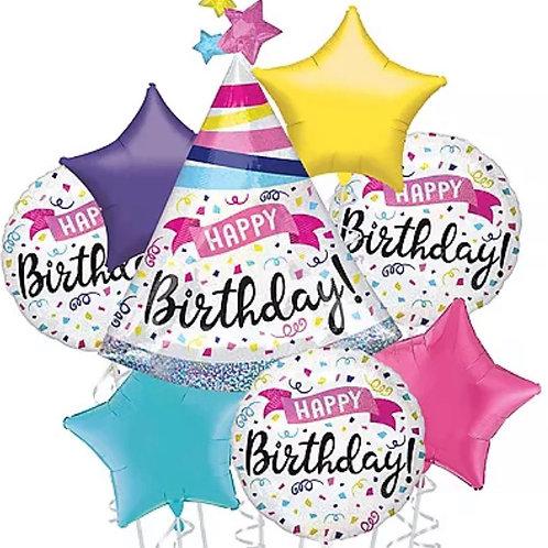 Happy Birthday Hat Balloon Bouquet
