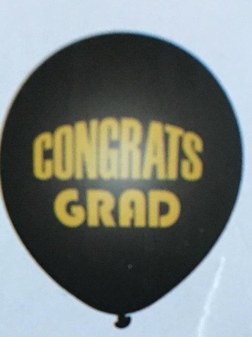 Congrats grad latex balloon