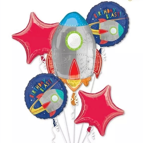 Spaceship Balloon Bouquet