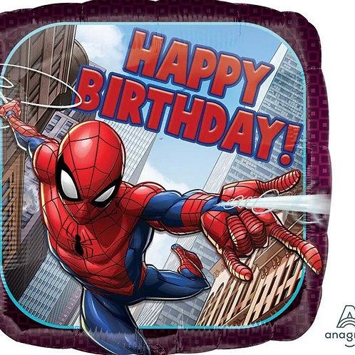 """Spider Man Happy Birthday 17"""" Mylar"""