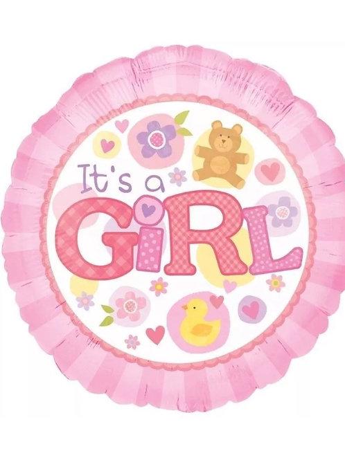 """18"""" It's a Girl Balloon"""