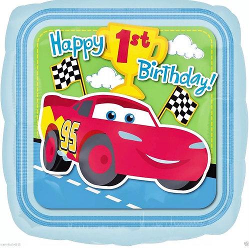 "Cars 1st Birthday 18"""