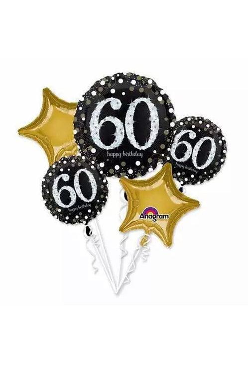 60th Sparkling Birthday Bouquet 224