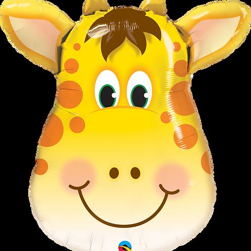 """Giraffe Head 32"""" Mylar"""