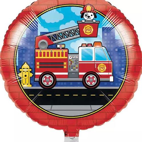"Fire Truck 18"" Mylar"