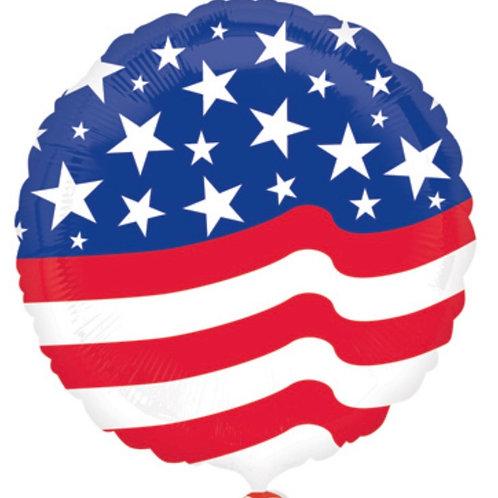 """American Flag 18"""" Mylar"""