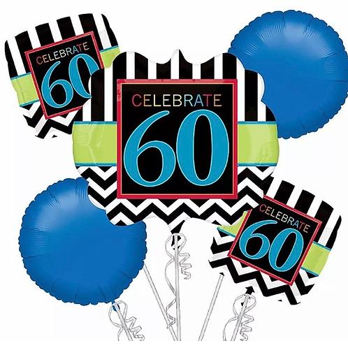 Celebrate 60th  Bday Balloon Bouquet 216