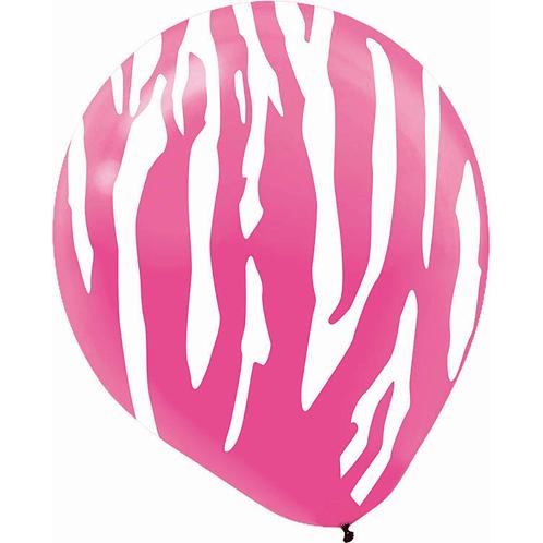 "Zebra pink and white 12"""