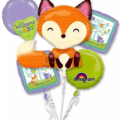 Welcome baby woodland fox bouquet
