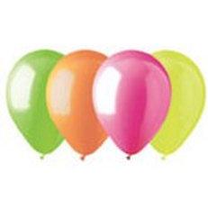 "12"" 6 Standard Neon Assorted Latex Balloon"