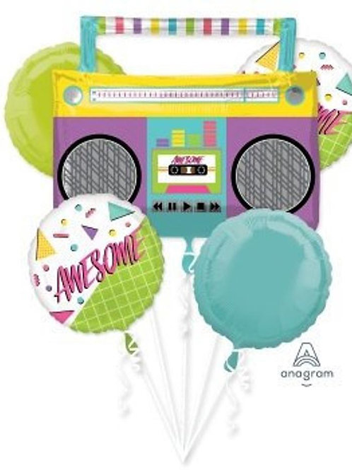 80's Party Awesome Birthday Mylar Bouquet