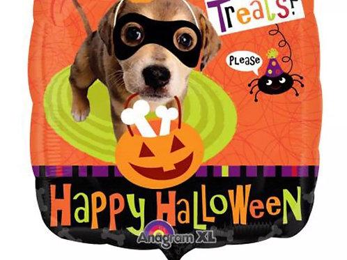 "18"" Happy Halloween Puppy Trick or Treat"