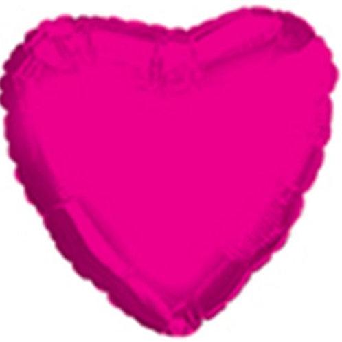 "31"" Bright Pink Giant Heart Balloon"