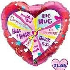 """36"""" Valentine's Day Spinner Balloon"""