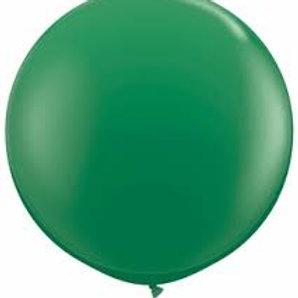 "24"" Festive Green Latex Balloon"