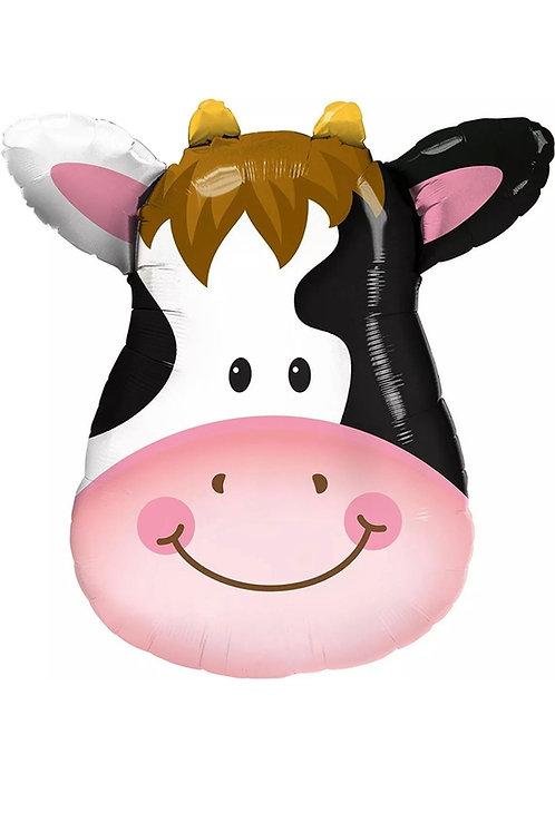 """Cow Face 32"""" Mylar"""