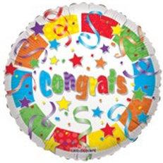 "18"" Confetti Congrats Mylar Balloon (002)"