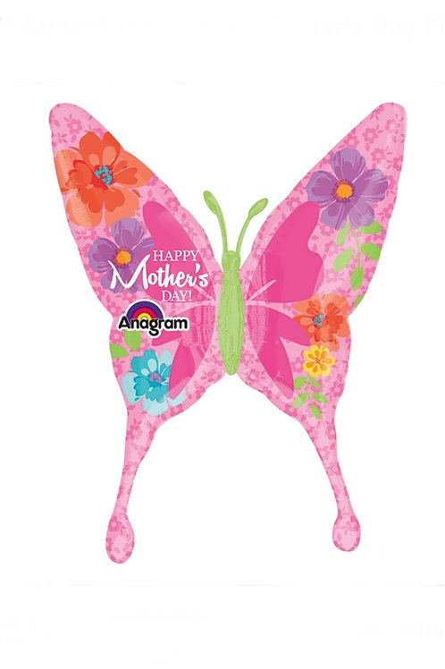 """Happy Mother's Day Butterfly 37"""" Mylar"""