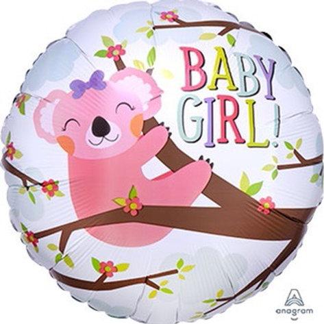"""Baby Koala Girl 18"""" Mylar"""