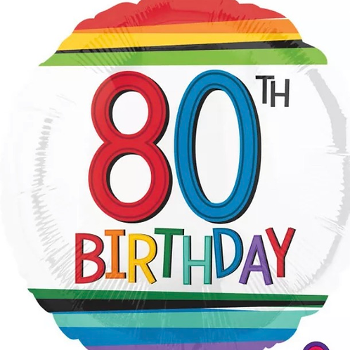 80th Birthday Balloon 232