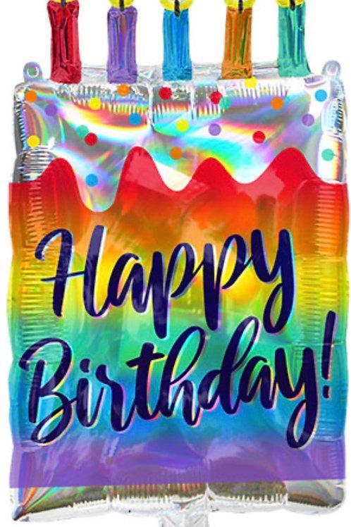 Iridescent Cake Balloon (301)