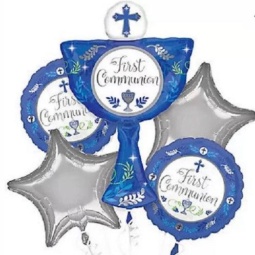 First communion blue bouquet