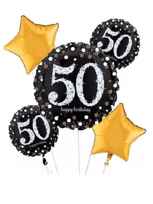 50th Mylar Balloon Bouquet 223