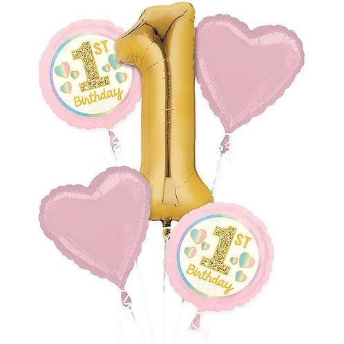 1st Birthday Gold&Pink Bouquet