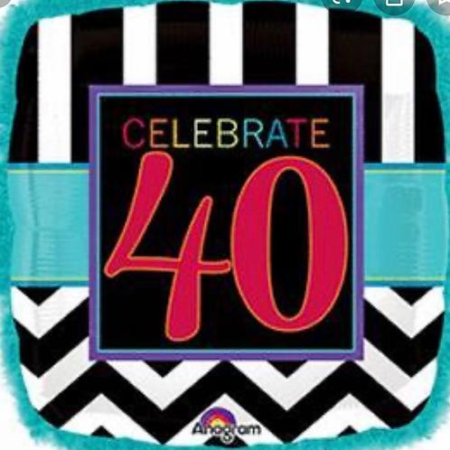 40th Birthday Celebration Balloon 230